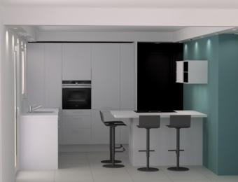 Rénovation d'une cuisine et aménagement de l'espace